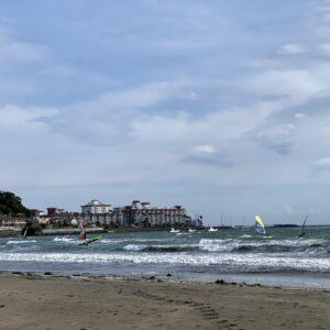 材木座海岸のウィンドサーフィン2
