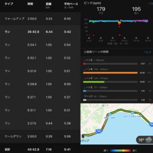 """7.16km(5'41"""") イージーラン【2021/4/14】"""