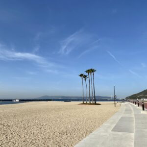 須磨海浜公園の砂浜