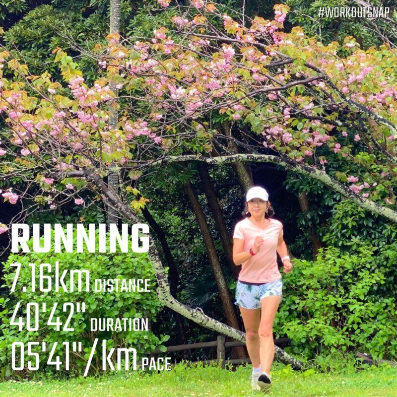 """7.16km(5'41"""") イージーラン【2021/4/14】in稲村ヶ崎公園"""