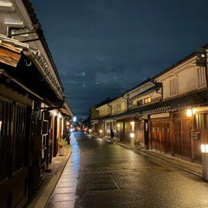 倉敷美観地区の夜