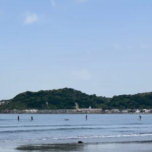 材木座海岸のサップ