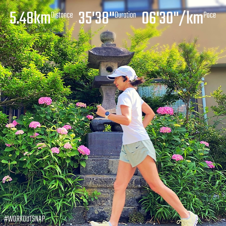 "5.48km(6'30"") イージーラン【2021/5/26】in五所神社"