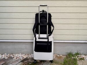 【Biten】ビーテンをスーツケースに取り付け(背面)