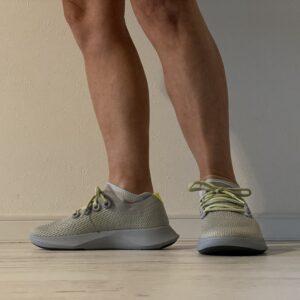 allbirdsのランシューとOnの靴下