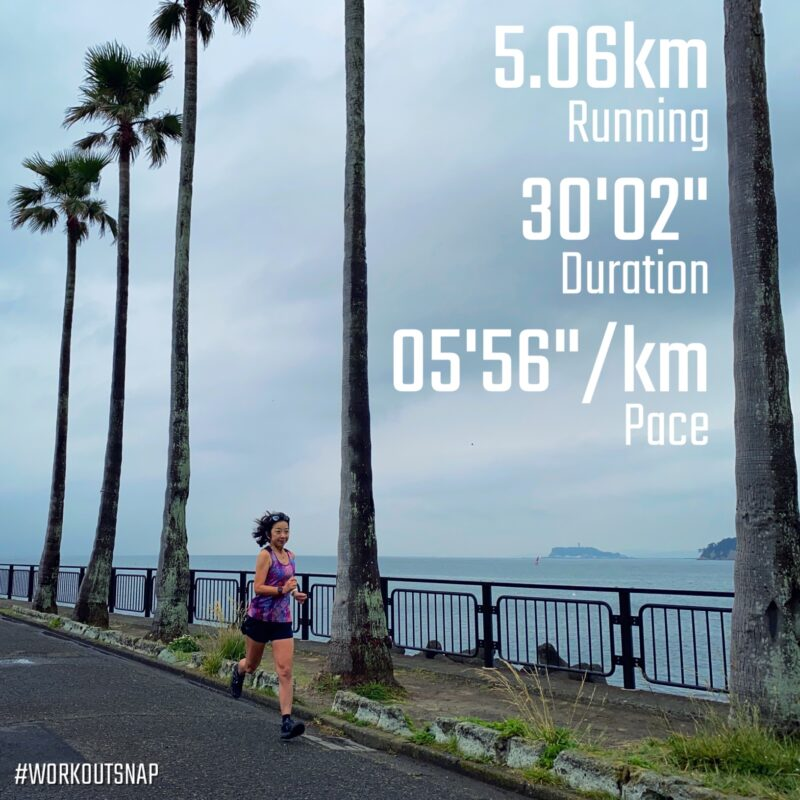"5.06km(5'56"") スピードリピート【2021/5/13】in逗子マリーナ"