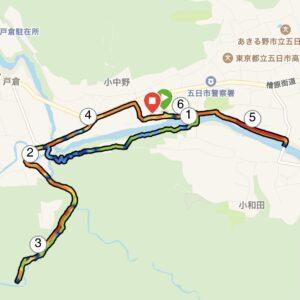 秋川渓谷の地図