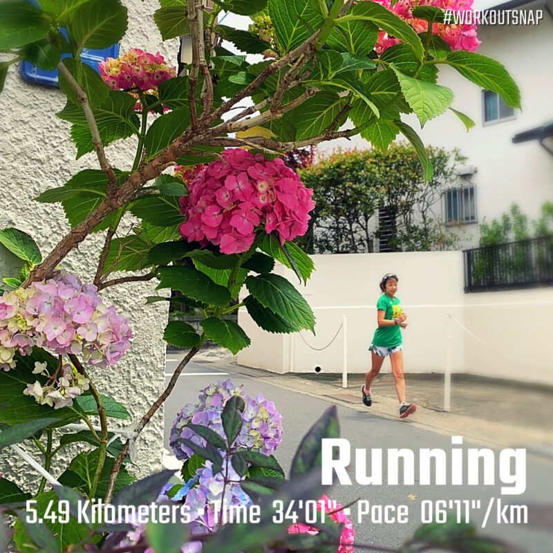 "5.49km(6'12"") 疲労時ラン【2021/5/24】in由比ヶ浜"