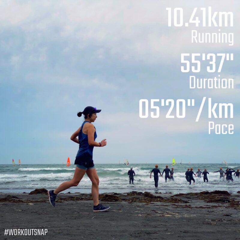 "10.41km(5'21"") ラントリップラン【2021/5/22】in材木座海岸"