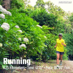 "5月31日(月)【6.75km(6'07"")】in源氏山公園"