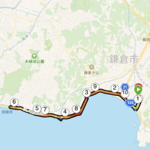 "10.25km(5'56"") 稲村ヶ崎ラン【2021/5/5】MAP"