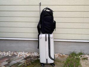 【Biten】ビーテンをスーツケースに取り付け(側面)