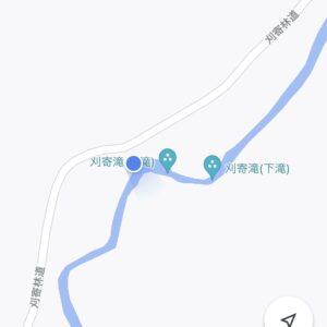 秋川渓谷の滝の地図