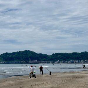 材木座海岸で海釣り