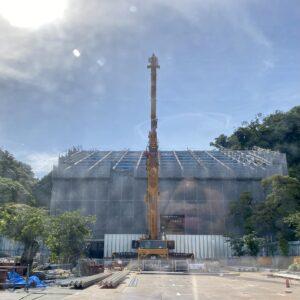 工事中の光明寺