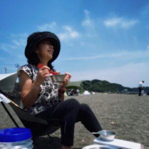 和田長浜海岸でランチ
