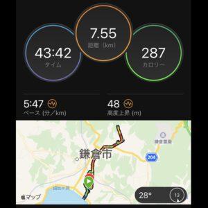 """6月10日(木)【7.55km(5'47"""")】"""