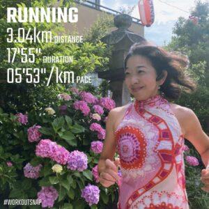 """6月13日(日)【3.04km(5'53"""")】in五所神社1"""