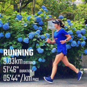 """6月11日(金)【9.03km(5'44"""")】in明月院"""