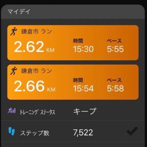 """6月21日(月)【5.28km(5'56"""")】"""