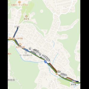 """6月29日(火)【12.6km(5'42"""")】MAP1"""