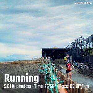 月例湘南マラソン5km