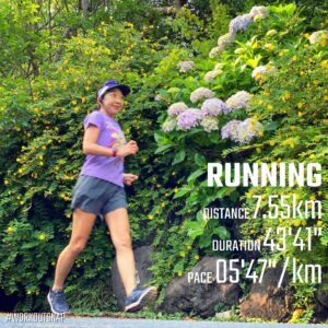 """6月10日(木)【7.55km(5'47"""")】in覚園寺"""