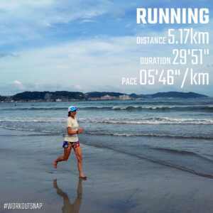 "6月3日(木)【5.17km(5'46"")】in材木座海岸"