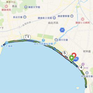"""6月3日(木)【5.17km(5'46"""")】MAP"""
