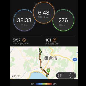 """6月18日(金)【6.48km(5'57"""")】"""