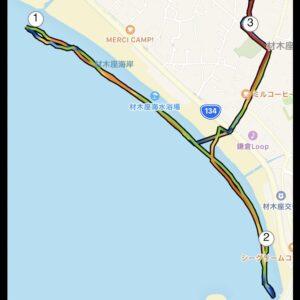 """6月1日(火)【3.14km(6'04"""")】MAP"""