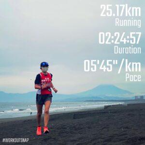 """6月6日(日)【25.17km(5'45"""")】in鵠沼海岸"""