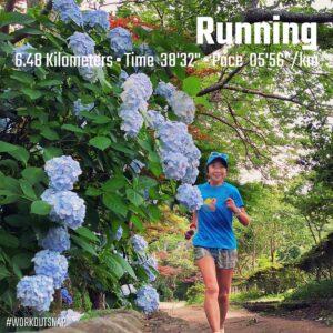 """6月18日(金)【6.48km(5'57"""")】in源氏山公園"""