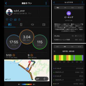 """6月13日(日)【3.04km(5'53"""")】"""
