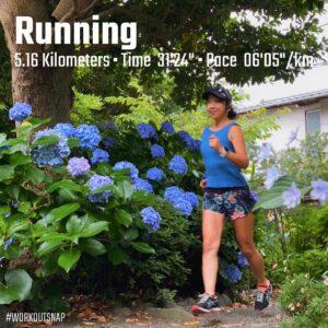 "6月28日(月)【5.16km(6'05"")】in実相寺"