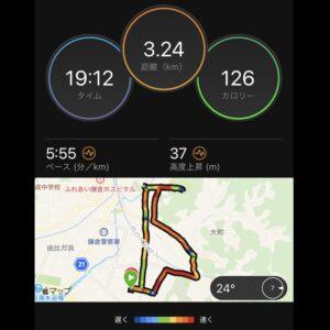 """6月27日(日)【3.24km(5'55"""")】"""