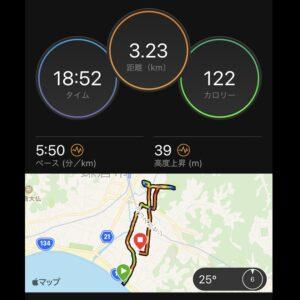 """6月9日(水)【3.23km(5'50"""")】"""