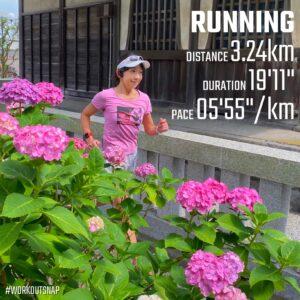 """6月27日(日)【3.24km(5'55"""")】in本覚寺"""