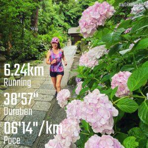 """6月20日(日)【6.24km(6'15"""")】in葛原岡神社"""