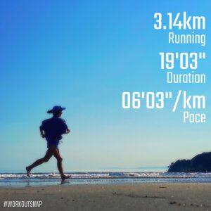 "6月1日(火)【3.14km(6'04"")】in材木座海岸"