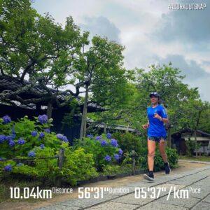 """6月5日(土)【10.04km(5'38"""")】in東慶寺"""