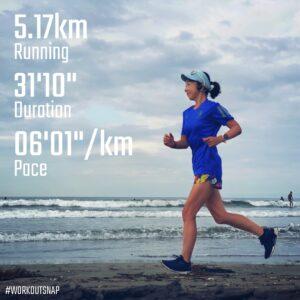 "7月30日(金)【5.17km(6'02"")】in材木座海岸"