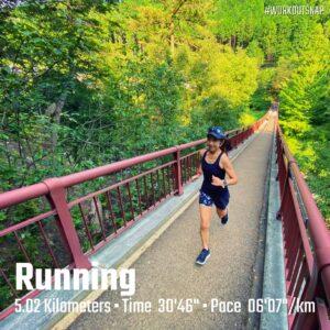 "7月22日(木)【5.02km(6'08"")】in秋川渓谷"