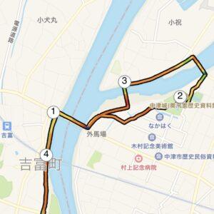 """7月26日(月)【5.01km(5'45"""")】MAP2"""