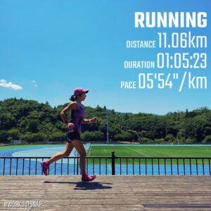 """7月27日(火)【11.06km(5'55"""")】in平成令和の森スポーツ公園"""