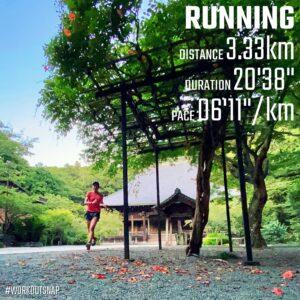 """7月19日(月)【3.33km(6'12"""")】in妙本寺"""