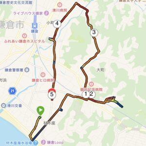 "7月10日(土)【5.40km(6'45"")】MAP"