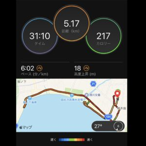 "7月30日(金)【5.17km(6'02"")】MAP"