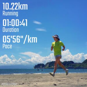 "7月23日(金)【10.22km(5'56"")】in材木座海岸"