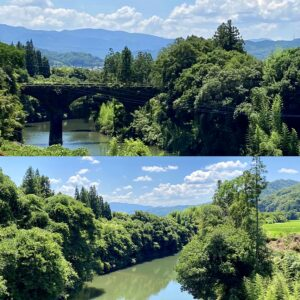 恵良川にかかる石橋